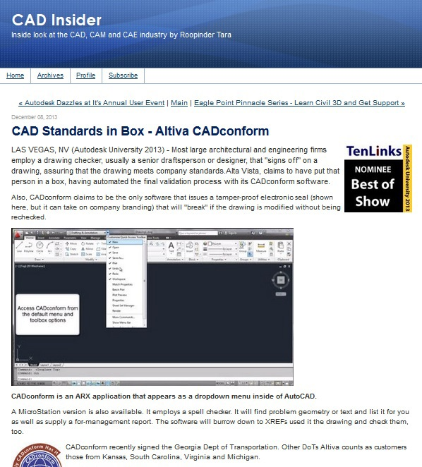 CAD Insider article